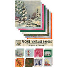 Paper 24sh 6x6  Vintage Christmas Cards Template FLONZ Craft Scrapbooking 028