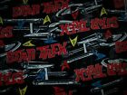 NEW Star Trek Fleece Fabric Material TV space ship words sewing crafts yard