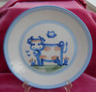 M A HADLEY DINNER PLATE COW STONEWARE HAND PAINTED RARE