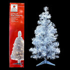RETRO SILVER TINSEL ARTIFICIAL CHRISTMAS TREE with CLEAR LIGHTS / NEW
