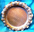 Vintage GREGORIAN Hand Hammered SOLID COPPER Hanging Plate tray Made in USA 9.5