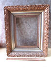 Vintage ELABORATE Wood & GESSO Picture FRAME,Gold-Tone,C.1880,Victorian,16x13.5
