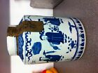 Large sealed antique Chinese blue and white porcelain pot / vase / Urn with seal