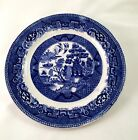 Antique Old Rare Signed Dutch Blue Willow Plate 1891 Holland Blue