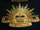 RISING SUN HAT BADGE THE ARMY AUSTRALIA GOLD CURRENT issue NICE REPRO.(G )