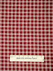 Christmas O Snowy Night Red Creamy White Plaid Fabric Cotton Yard Red Rooster
