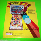 MEMORY LANE By STERN 1978 ORIGINAL NOS PINBALL MACHINE PROMO SALES FLYER