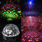 DMX512 Disco Stage Lighting 6x LED RGB Crystal Ball Effect Laser +Remote Control