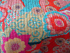 new Traveler's Edition cotton twin quilt Moroccan print teal yellow orange tan