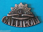 GALLIPOLI 1915-2015 HAT BADGE COMMEMORATING 100 YEARS SINCE LANDING AT ANZAC
