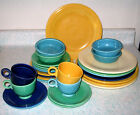 Vintage 1936 Fiesta Ware Green 28 pcs Plates Bowls Cups Saucers Fiestaware Fruit