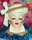 1959 NAPCO LG 6 LADY HEAD VASE HEADVASE NAPCOWARE BRUSH LASH LUCY EXC