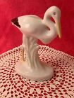 VINTAGE , PORCELAIN BIRD,STORK ,HANDPAINTED,STAMPED.