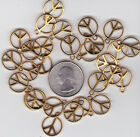 YOU GET 32 GOLD TONE PEACE SIGN METAL CHARMS JUNKMANRALF US SELLER C 29