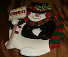 FITZ AND FLOYD Holiday CHRISTMAS Snowman SNOWMEN Cookie PLATE