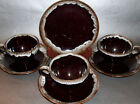 Old Hickory Drip Glaze Ovenware 3 Cup & Saucer Sets 1 B&B Plate Nasco Japan