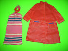 Vintage Barbie Mod era 1967 Fashion Shiner #1691 Striped dress raincoat clothes