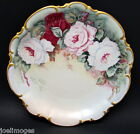 Hand Painted Vintage Hutschenreuther Bavaria Porcelain Roses Charger Plate