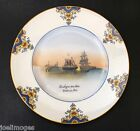 Antique Limoges Hand Painted Charger Plate Ship Decoration Dadat Studio 1900