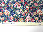 Vtg 90s Joan Kessler Concord Fabric USA Country Floral Cotton 3+ yrd Sew Quilt