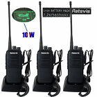 3x Retevis RT1 Walkie Talkie 10W UHF16CH CTCSS 3600mAh Scrambler 2-Way Radio US