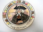 ROYAL DOULTON PORTRAIT PLATE THE PARSON D6280 SERIESWARE Art Deco PROFESSIONALS