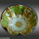 Nippon hand painted bowl with green and gold designs FREE SHIPPING