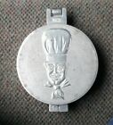 Vintage Metal Burger Press Chef 2 pc Kitchen Patty Tool Hamburger
