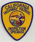 CALIFORNIA HIGHWAY PATROL INSPECTION SPECIALIST POLICE PATCH