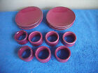 Todd English Collection - Set of 8 Appetizer Plates & 7 Napkin Rings - NICE!
