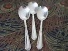 Vintage Silverplate Gumbo Spoons Lot of 3 Marianne Silver Plate USA 1850-1899