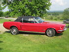Ford  Mustang 2 Dr Convertible Candy Apple Red 1967 ford mustang convertible 90 resto turn key