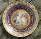antique porcelain plate or charger of 3 scantily clad Nymphs