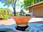 VINTAGE MARIGOLD STRETCH CARNIVAL CONSOLE GLASS FLARED EDGES