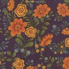 1 yard PERFECTLY SEASONED by Sandy Gervais for Moda PURPLE floral quilt fabric