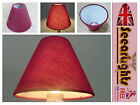 CANDLE LAMPSHADE CLIP CHANDELIER WALL LIGHT PENDANT SHADE WINE CLARET HUNTER RED
