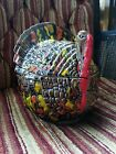 Ceramic Pottery Turkey Candy Dish Multi Colored Hand Painted With Gloss Finish