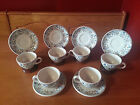 Shenango China Restaurant Ware Set of 6 Cups and Saucers Flower Pattern
