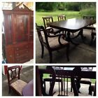 Antique  Mahogany harp back dining set with China hutch pre 1950's
