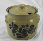 Pfaltzgraff Soup Tureen Blue Tan Pottery Stoneware With Lid No Ladle 3 1/2 Quart