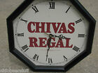 VINTAGE CHIVAS REGAL SCOTCH WHISKEY CLOCK SEAGRAMS 7  NEW YORK ADVERTISING SIGN