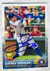 Houston Astros George Springer Signed 2015 Topps Future Stars Auto Card