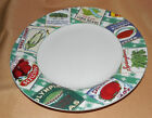 Vegetable Labels COUNTRY CUPBOARD Omnibus Fitz And Floyd SALAD PLATE