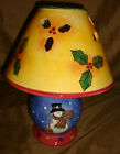 SANGO Sue Zipkin SWEET SHOPPE CHRISTMAS Snowman Candle LAMP With Box