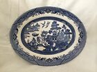 Churcill  Blue Willow Made In Staffordshire England Large Oval Platter