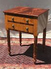 MAHOGANY ACANTHUS CARVED WORK TABLE -RARE EXAMPLE