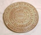 Frankoma Pottery Sequoyah Indian Cherokee Alphabet tribute trivet hot plate dish