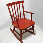 Vintage Antique 50s childs kids red wood rocking chair 24