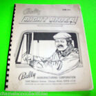 NIGHT RIDER EM By BALLY 1977 ORIGINAL PINBALL MACHINE SERVICE REPAIR MANUAL