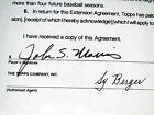 1990 JACK MORRIS Topps Autographed Baseball Card Contract Tigers Twins Blue Jays
